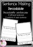 Decodable Sentence Building Pages Sentence Building, Literacy Games, Sentences, Education, How To Make, Frases, Onderwijs, Learning