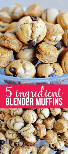 Peanut Butter Banana 5 ingredient blender muffins - these taste amazing, are easy to make and gluten free! www.thirtyhandmadedays.com