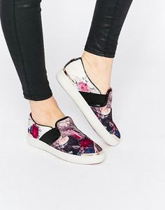 f4d49d70e Ted Baker Laulei Floral Print Slip On Sneakers Ted Baker Sneakers