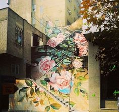 flower power... Iranian stairs
