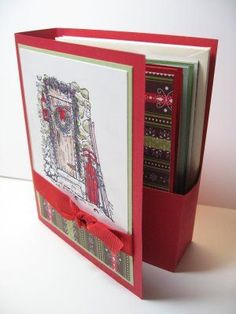 This would make a cute teacher gift @Lynda Wood's Quiet Time: Christmas Book Box. Love the gift box style of presenting cards! So cute!