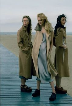 raquel, caroline and Fei Fei in playing it cool. by annie leibovitz for vogue usa / september 2014.