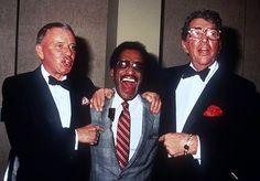 1983, Feb 12 Love In II Desert Hospital Benefit at Canyon Country Club Palm Desert, CA. Frank Sinatra, Dean Martin & Sammy Davis Jr.