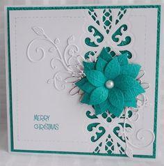 snoflake christmas challenge 2014 weeks 19 - 23 | docrafts.com Sue Wilson Regal striplet