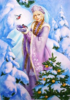 Christmas Russia. The Snow Maiden.