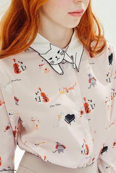 kocia koszula #fashion #girl #shirt #cats #idea #ubranie