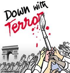 From Indian cartoonist Neelabh Banerjee / Cartoonists react to Paris attack