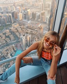 At the top of tallest building, thanks for making me feel like a midget for once #visitdubai @visit.dubai