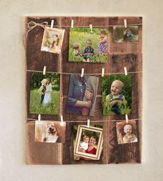 Mini Clothespin Picture Frame on Reclaimed by GrindstoneDesign