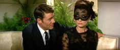 Audrey Hepburn in How To Steal a Million (1966). Love the masquerade trimming! Idea for a party!