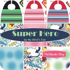 Super Hero Yardage and Panels My Mind's Eye for Riley Blake Designs   {Fat Quarter Shop}