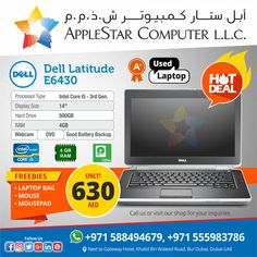 🔥 HOT DEAL 🔥 Dell Latitude E 6430 Used Laptop with A+ Condition only 630 AED - Call us or visit our shop for your inquiries  #HotDeal #Dubai #UsedLaptop