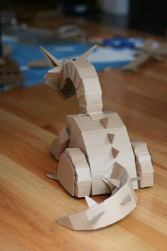 T oversaw the design and helped with the cutting and gluing Crafts For Kids, Arts And Crafts, Paper Crafts, Make A Dragon, Cardboard Sculpture, Kids Corner, Art Lessons, 3d Printing, Toys