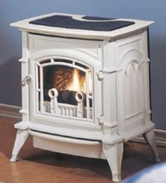 Ventless Gas Fireplace/Stove -- I'd want it in black Gas Wall Fireplace, Living Room With Fireplace, Small Space Living, Small Spaces, Tiny Living, Living Rooms, Black Gas Stove, Home Design Decor, House Design