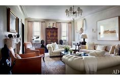 Inspiring Living Rooms of Architects and Designers : Architectural Digest decorator Mona Hajj Baltimore apt, Beaux art bldg, photo above sofa by Elger Esser , images by Scott Frances