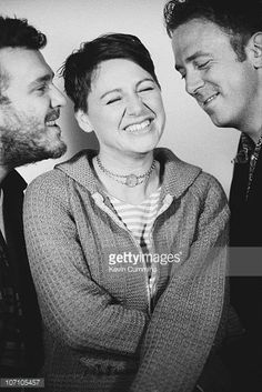Scottish alternative rock band the Cocteau Twins September 1995 From left to right drummer and guitarist Robin Guthrie singer Elizabeth Fraser and...