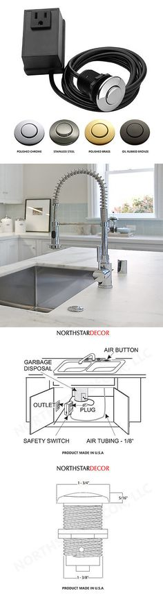 Garbage Disposals 42022: Northstar Decor Garbage Disposal Sink Top Air  Switch Kit (Available 10