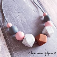 Teething Necklace Silicone necklace Nursing necklace breastfeeding babywearing jewellery chewbeads chewelry fiddle beads modern fresh fashion Mum baby new