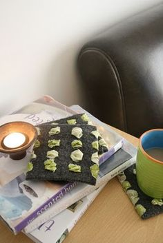 Re-purposed No-Sew Felt Coasters Tutorial From Colleen Babcock of The Magic Bean