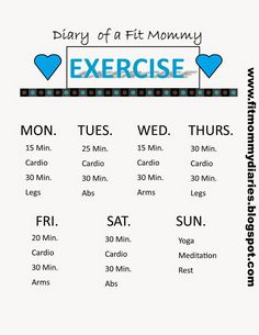 Simple cardio/strength training schedule for a busy week/day