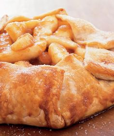 Need a last-minute dessert? Thanks to shortcut ingredients like refrigerated piecrust and frozen cinnamon apples, this home-style apple tart takes fewer than 25 minutes to prepare and requires only five ingredients.