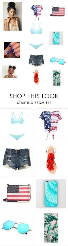"""Layla Beach outfit."" by karistagrier on Polyvore featuring Bower, Hollister Co., Charlotte Olympia, Draper James and PBteen"