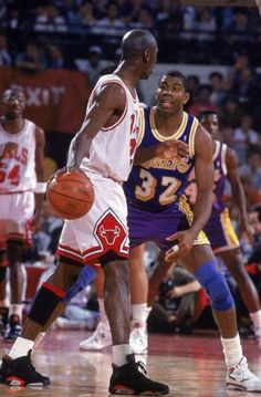 Michael Jordan and Magic Johnson