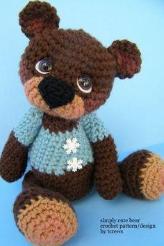 Crochet Pattern Cute Teddy Bear by Teri Crews por TeriCrewsCrochet