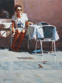 Waiting for a friend | painting by Richard van Mensvoort