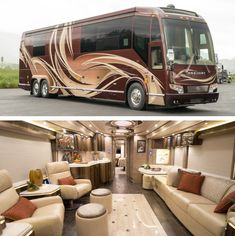 Marathon Coach Certified Pre-Own With Warranty - Marathon Coach Bus Motorhome, Motorhome Interior, Van Conversion Interior, Camper Conversion, Luxury Rv Living, Marathon Coach, Prevost Bus, Luxury Van, Luxury Motorhomes