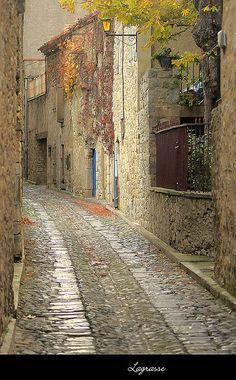 Rue à Lagrasse France