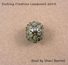 EVOLVING  Studded Oxalis Focal  Lampwork by EvolvingCreations