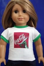 """Doll Clothes T225 Coke Tee Shirt fits for American Girl Boys & 18"""" Dolls"""