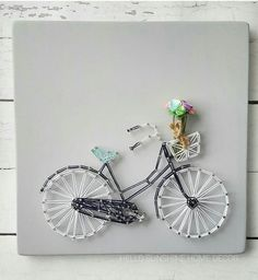 Bicycle String Art | Hello Sunshine Home Decor