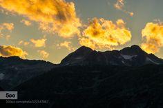 Twillight by edvardstorman-badri  Austria Twillight alps beautiful cloudsw color dusk gold mountains sky snow sunset Twillight edvards