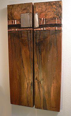 CAROL NELSON FINE ART BLOG: Mineshaft, mixed media abstract diptych