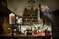 "Pod Aniolami Restaurant in Krakow.   Located ""in the gothic cellars of a 13th century building that once served as a goldsmiths' workshop. ""  This is absolutely a must see!"