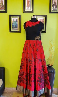 Deewali Bash . . . Crush the Floor with Vibrant Red & Delicate Embroideries . .