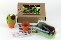 Needle Felting Cactus Monster Kit - Woolbuddy