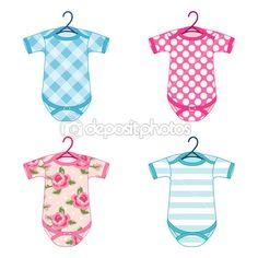 Newborn baby clothes — Stock Vector © IShkrabal #45570879