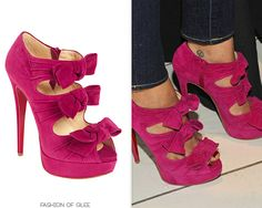 Naya Rivera launches the Sephora By OPI GLEE Collection, Los Angeles, February 12, 2011  Are these not the most beautiful shoes you've ever seen?  Christian Louboutin Madame Butterfly Bootie - $1,195.00
