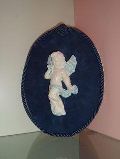Ovale cona ngelo in ceramica a freddo!