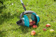 The GARDENA combisystem Fruit Collector helps collecting fallen fruits and nuts without bending down. Garden Equipment, Tools And Equipment, Outdoor Power Equipment, Fallen Fruits, Gadget Store, Project, Design Language, Leaf Blower, How To Level Ground