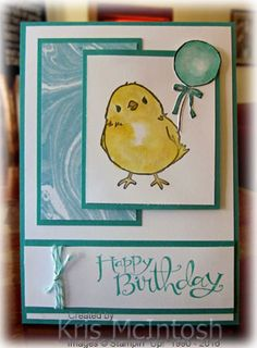 Well this stamp set was FREE with a qualifying order. Its such a cute little birdie. The stamp set is called Honeycomb Happiness and co-ordinates perfectly with the Honeycomb Embellishments which...