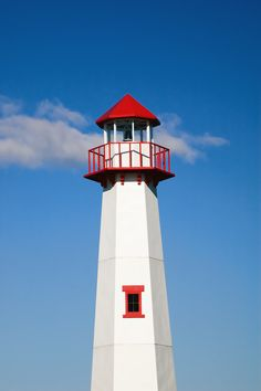 The lighthouse in St Ignace, Michigan USA
