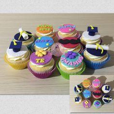 Cupcakes de grado. Cupcakes con mensaje