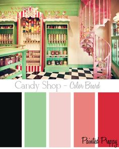 Candi Shop by Painted preppy- AHHH!! If only my husband would agree to it, I'd paint my whole freakin house like this.