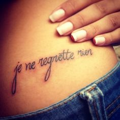 je ne regrette rien tattoo