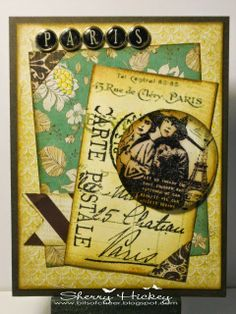 Bits of Cheer: A Vintage Journey Challenge #3: A Little Bit French