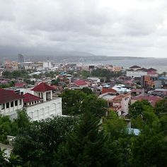 view of manado city... north sulawesi..indonesia